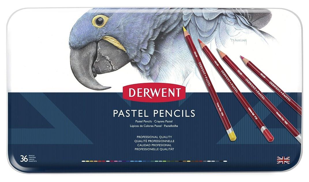 Derwent Pastel Pencils, 4mm Core, Metal Tin, 36 Count (0700307)