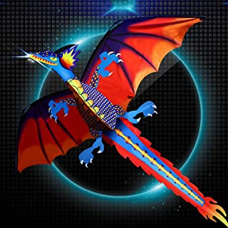 ousifanersty New 3D Dragon Kite with Tail Kites for Adult Kites Flying Outdoor 100m Kite Line