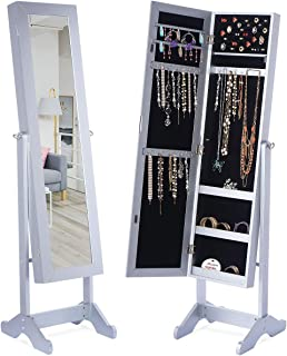 tall mirrored jewelry armoire