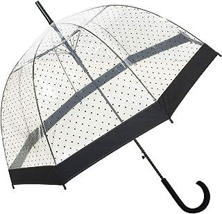 comprar comparacion SMATI Paraguas Largo Transparente con Lunares Negros en Forma de Campana y su apuerta automatica