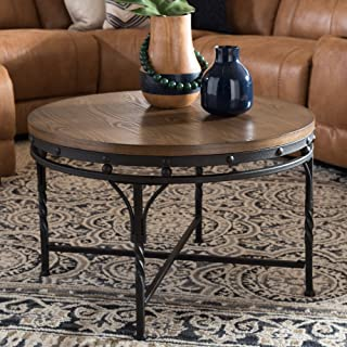 Baxton Studio Occasional Table in Brown and Antique Bronze