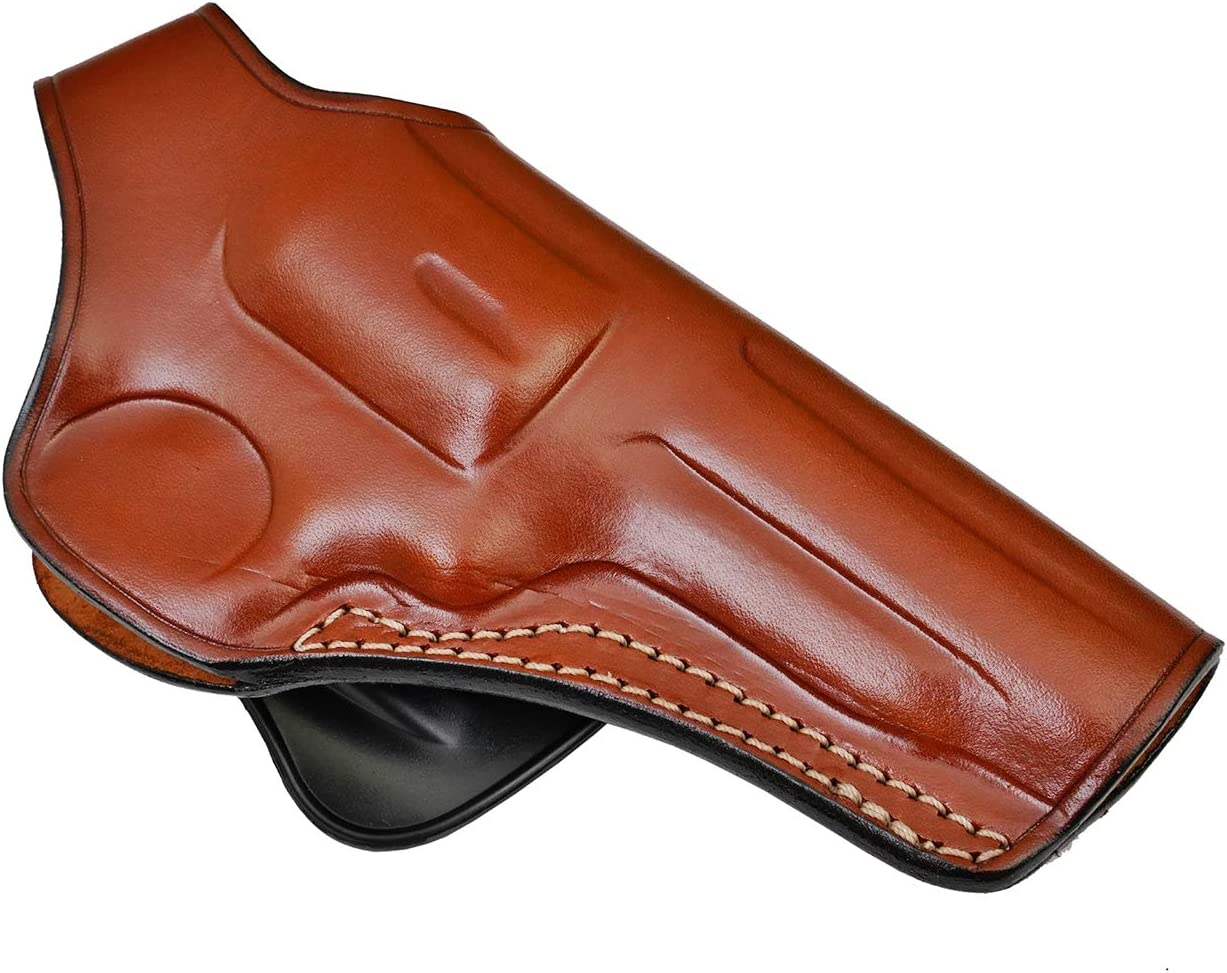 Paddle Leather Holster for Ruger GP100 - Genuine Leather, Brown