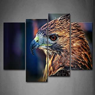 First Wall Art - Falcon Head Wall Art Painting Pictures Print On Canvas Animal The Picture for Home Modern Decoration