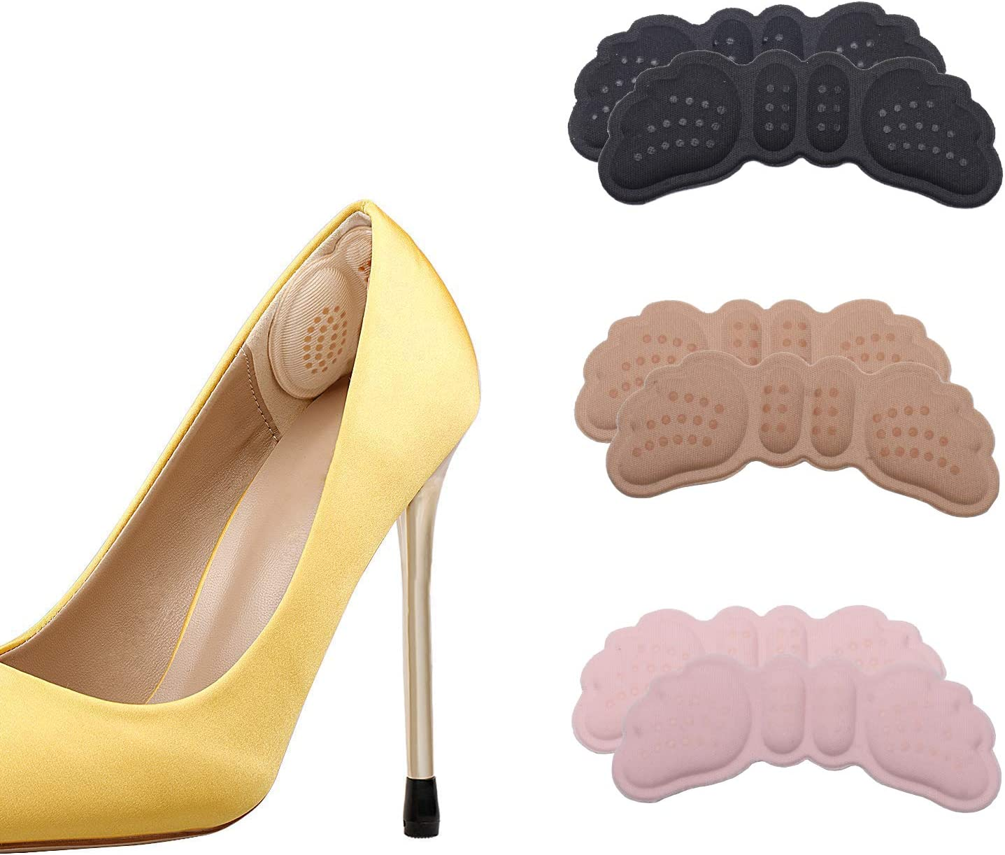 SooGree 3 Pairs Heel Cushion Inserts Men Grips Ki Sales results No. 1 Women for Under blast sales