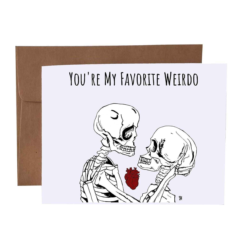 You're My Favorite Card Weirdo Skeletons Soldering