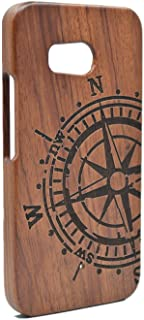 HTC U11 Wooden Case, PhantomSky Premium Quality Handmade Natural Wood Cover for Your Smartphone - Rosewood Compass