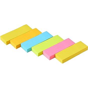 ポストイット 付箋 強粘着 ふせん ネオンカラー 75×25mm 90枚×6冊 500-6SSAN-AM