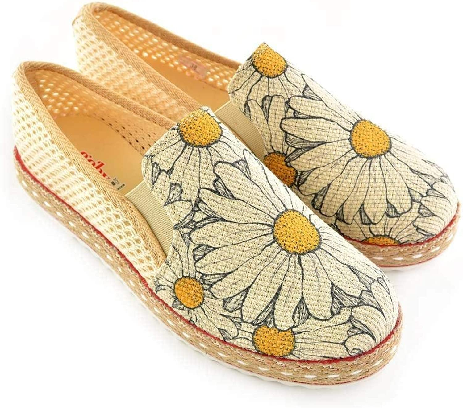 GOBY Women's shoes 'Ivory & Yello Daisy Slip-On Espadrille' DEL101