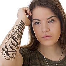 2 x Keep calm Tattoo Schriftzug in schwarz - Fake temporäre