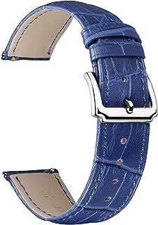 BINLUN Bracelets de Montre en Cuir véritable Femmes Hommes Remplacement Rapide des Bracelets de Montre en Cuir avec Option...