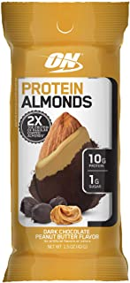 Optimum Nutrition Protein Almonds Snacks, On The Go Nutrition, Flavor: Chocolate Peanut Butter, Low Sugar, Made with Whey ...