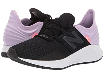 New Balance Kids Fresh Foam Roav (Little Kid) (Black/Dark Violet Glo) Girls Shoes