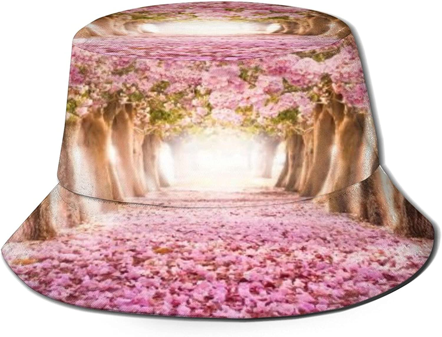 Pink Cherry Ranking TOP6 Blossom Trees Forest Sea S Bucket Unisex Tucson Mall Hat Sun