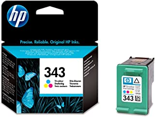 HP Cartucho de inyección de Tinta Tricolor HP 343 343 Inkjet Print Cartridges, 116 x 36 x 115 mm, 0.06 kg (0.132 Libras), 40.3 g (1.42 oz), 141 x 113 x 37 mm
