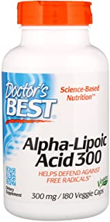Doctor's Best Alpha Lipoic Acid. 300mg - 180 Vcaps 180 Unidades 140 g