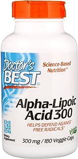 Doctor's Best Alpha Lipoic Acid. 300mg - 180 Vcaps 180 Unidades 140 g