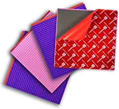 Creative QT Peel-and-Stick Baseplates - Self Adhesive Building Brick Plates - Compatible with All Major Brands - 4 Pack - 2 Pink 2 Purple - 10 inch x 10 inch