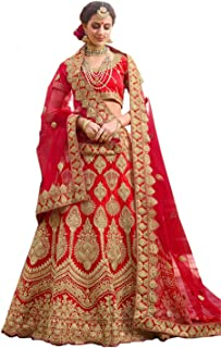 aaa89122b0 jannat creation women lengha choli with dupatta new collection of red rose lehenga  choli 2019
