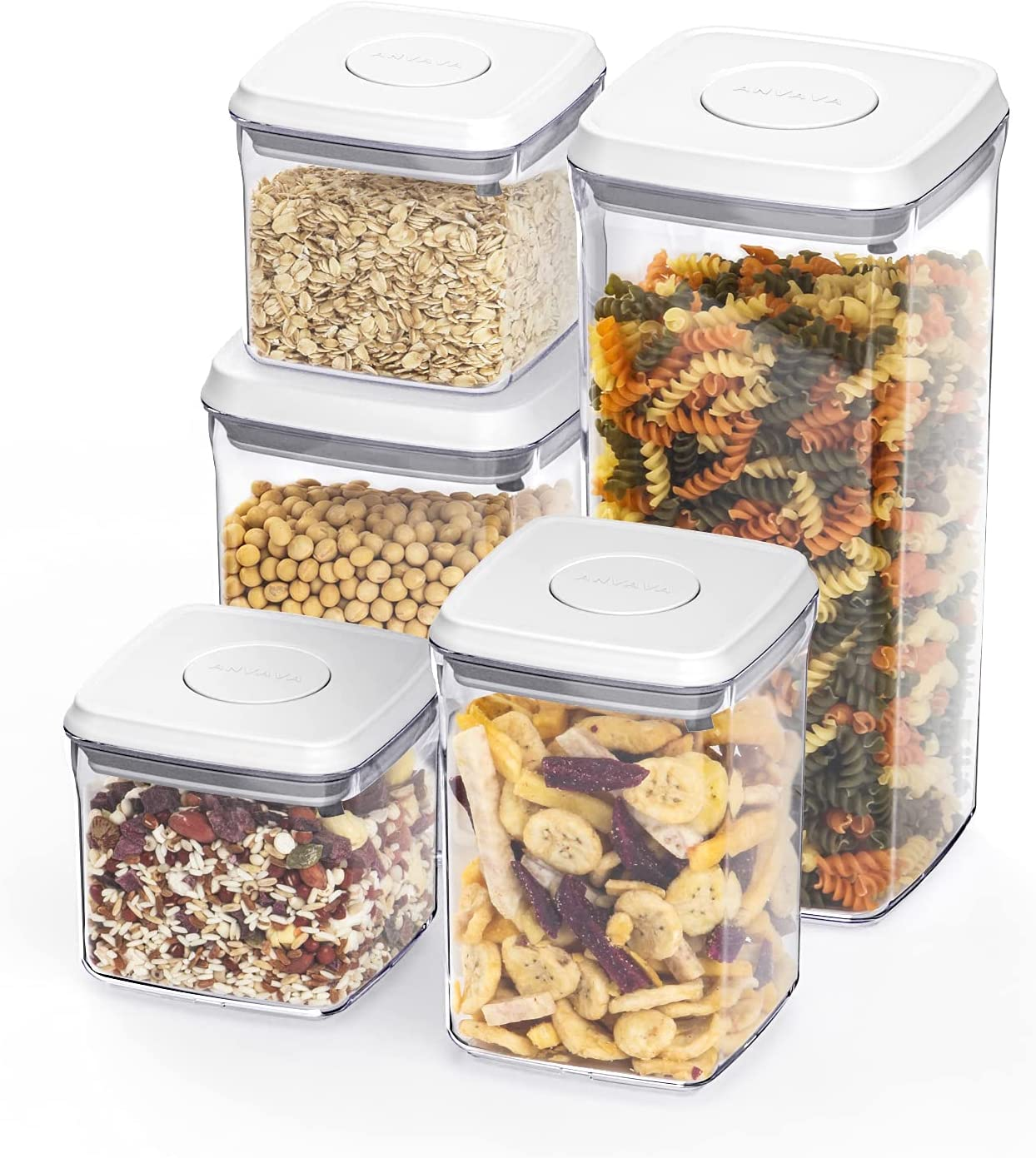 Airtight Food Storage Containers Set - Kitchen P Mesa Tucson Mall Mall ANVAVA 5-Pieces