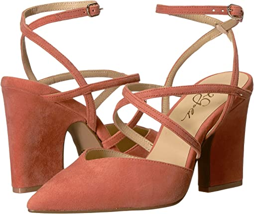 Sunset Coral Suede