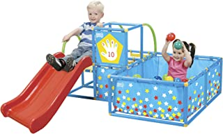 Eezy Peezy Active Play 3 in 1 Jungle Gym PlaySet – Includes Slide, Ball Pit, & Toss Target with 50 Colorful Balls