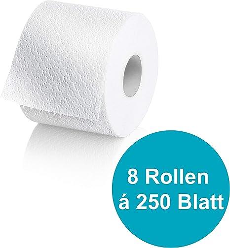 Wepa Liquify Camping Toilettenpapier Selbstauflösend 2 Lagig 8 Rollen á 250 Blatt Für Camping Flugzeuge Kreuzfahrtschiffe Züge Eu Ecolabel Küche Haushalt