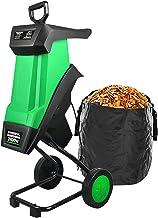 2400W Garden Shredder, Electric Wood Chipper, Branch Shredder, 50L Collecting Box, 10m Power Cable, 39mm Cutting Width, C...