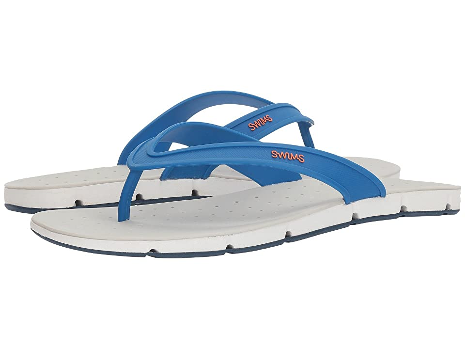 SWIMS Breeze Thong Sandal (Blitz Blue/White/Poseidon) Men