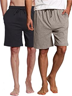 Men's Sleep Shorts - 100% Cotton Knit Sleep Shorts &...