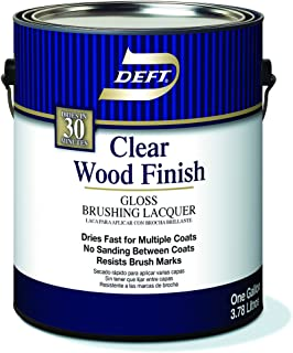 Brushing Lacquer, DFT010/01, Clear Gloss, 1 gal, Clear Wood Finish