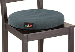 """NOVA Swivel Seat Cushion for Car or Chair, 360 Degree Pivot Disc for Easy Transfer, 2"""" Thick Cushion with Removable Cover"""