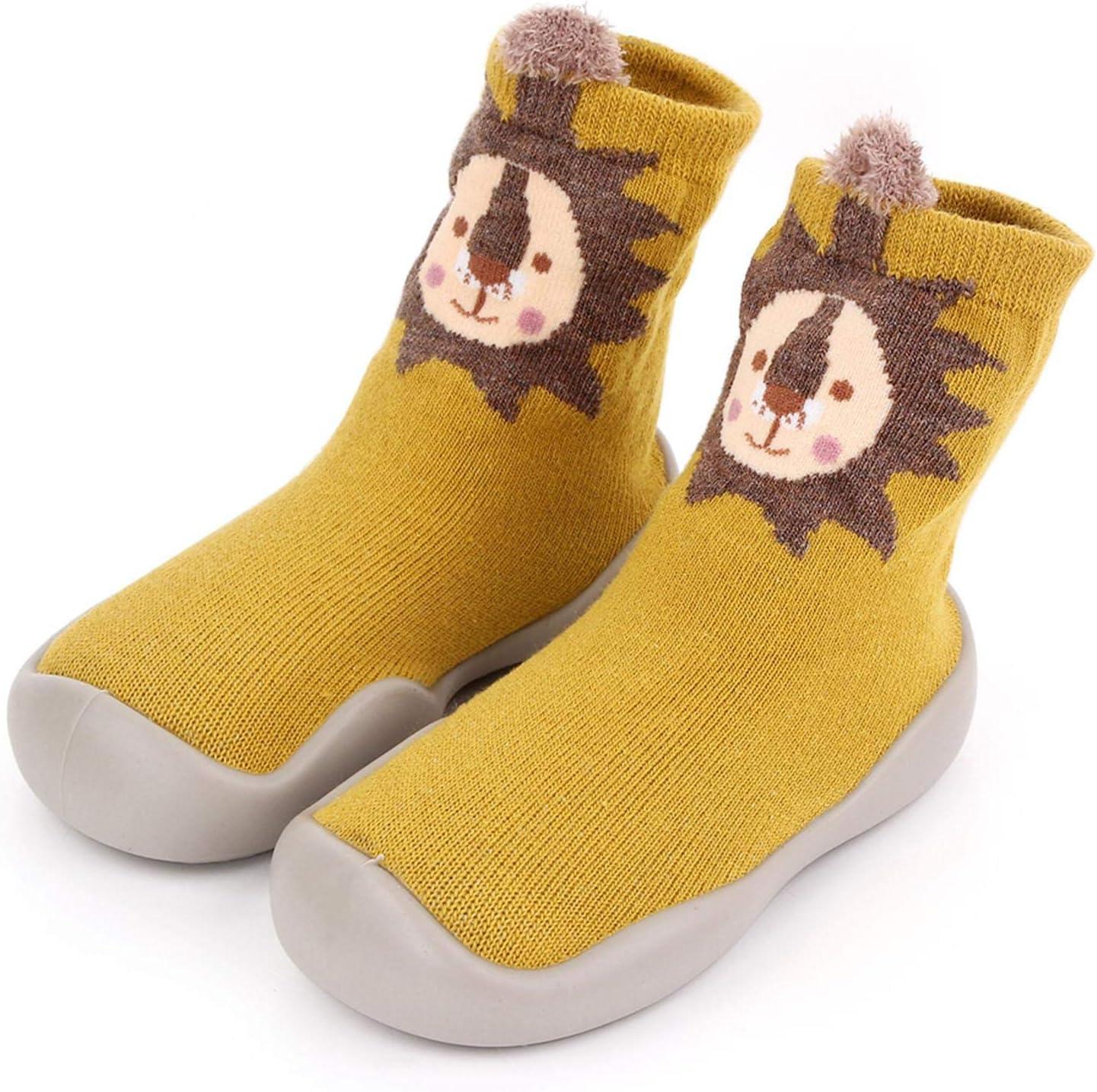 Antideslizantes Zapatos Botas para 2-7 A/ños Suelas De Goma Calcetines para El Piso Calcetines para Paso De Beb/é Xploit Zapatos para Ni/ños Peque/ños Zapatos con Estampado De Dibujos Animados