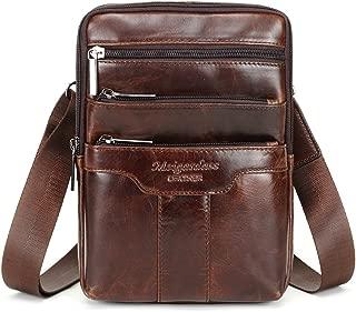 leather vertical messenger bag