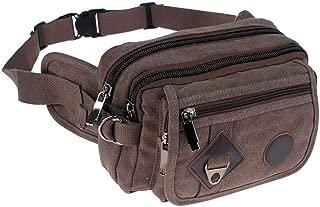 2019 Fashion Casual Canvas Messenger Bags Waist Packs Purse Men Portable Vintage Men Waist Bags Travel Belt Wallets,brown