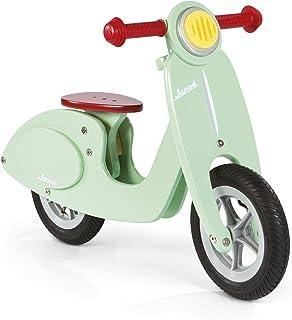 Janod - Bicicleta sin pedales (sillín ajustable 32 - 36,5 cm), madera, color verde menta (J03243 )