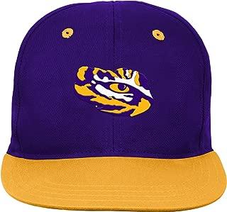 NCAA Lsu Tigers Infant Outerstuff 2-Tone Flat Brim Hat, Team Color , 0-6 Months