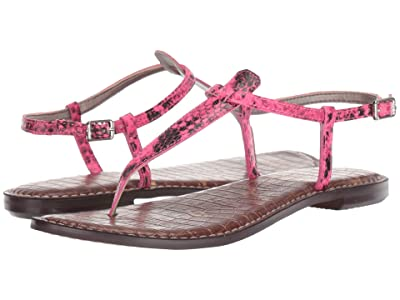 Sam Edelman Gigi (Neon Pink Snake Print Leather) Women