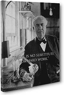 Hard Work Thomas Edison Quote Canvas Wall Art