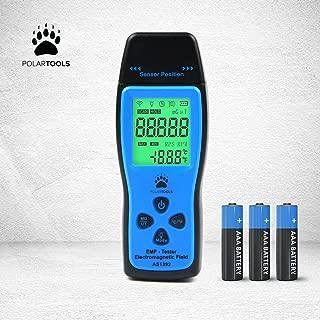EMF Meter Electromagnetic Field Radiation Detector   Handheld Mini Digital LCD EMF Detector Dosimeter Tester Counter   Ohmmeter  PolarTools