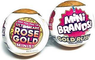 5Surprise Mini Brands Gold Rush Collection اسباب بازی های اختصاصی مینی برند !! مینی گل رز فوق العاده کمیاب !! مجموعه ای از 2 توپ مرموز