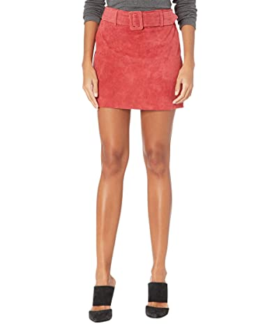 Blank NYC Real Suede Miniskirt with Belt (Fired Up) Women