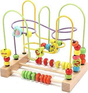 Wondertoys Preschool Fruit Bead Maze Roller Coaster Educational Toys for 1 2 3 Years Old Boys Girls Gifts