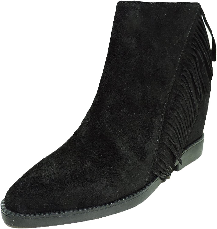 Ash kvinnor Gossip svart mocka Wedge Tassel Western Ankle Ankle Ankle stövlar, Booslips, Storlek 38 M  för billigt