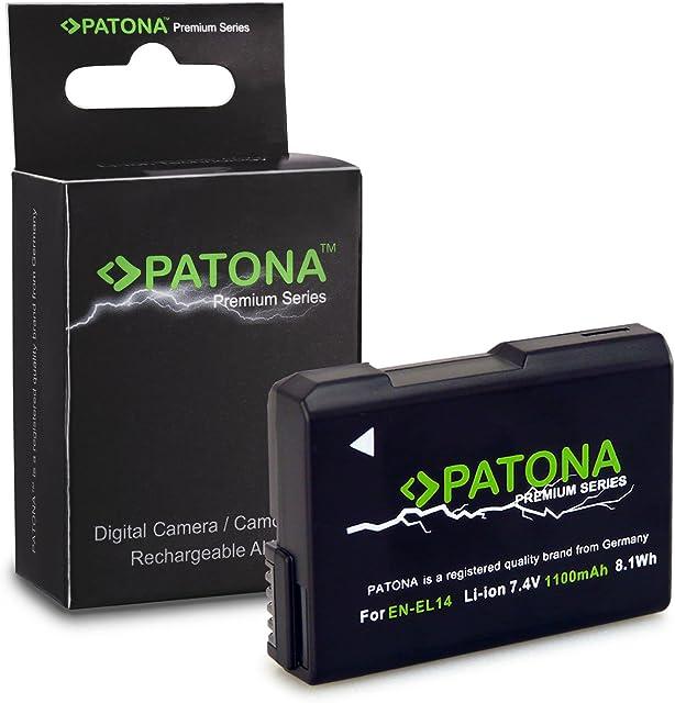Premium Batería EN-EL14 / EN-EL14a para Nikon D3100 | D3200 | D5100 | D5200 | D5300 - Nikon Coolpix P7000 | P7100 | P7700 | P7800 - [ Li-ion; 1050mah; 7.4V ]