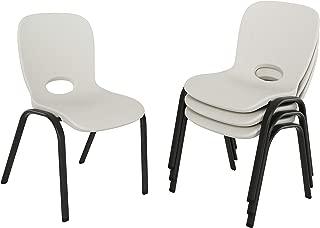 Lifetime 80383 Kids Stacking Chair, Almond