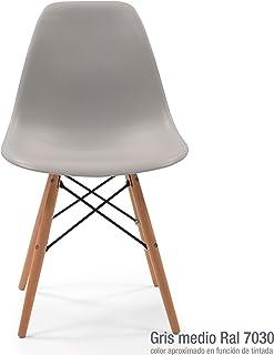 Homely - Silla de Comedor o Cocina MAX de diseño nórdico-Scandi, Inspiración Silla Tower (Gris Medio)