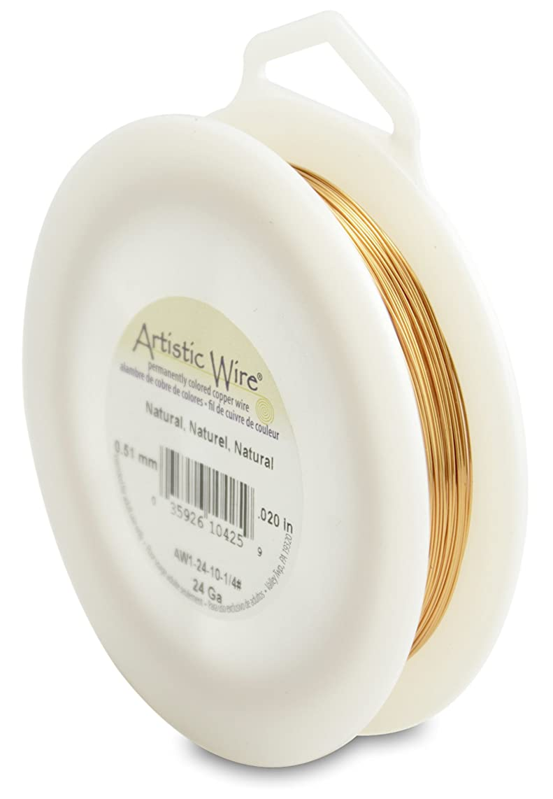 Artistic Wire 24-Gauge Natural Wire, 1/4-Pound