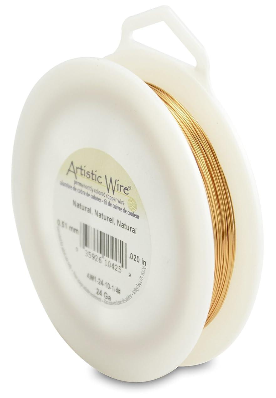 Artistic Wire 24-Gauge Natural Wire, 1/4-Pound