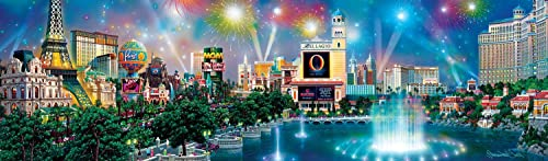 Buffalo Games Alexander Chen Panoramic  Las Vegas Twilight Jigsaw Puzzle (750 Piece) by Buffalo Games