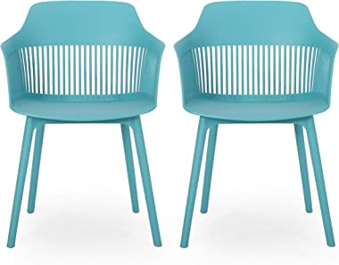 Christopher Knight Home 312175 Ladonna Outdoor Dining Chair (Set of 2), Teal
